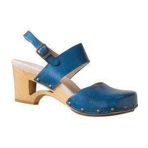 Dansko Leather Wood Heel Clog